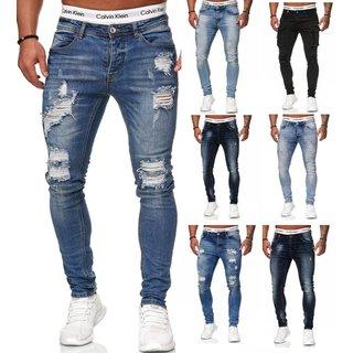 Herren Jeanshosen  Stretch Hose  Slim fit   SKINNY Jeans Blau Schwarz Grau Weiss