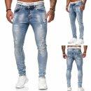 Herren Jeanshosen  Stretch Hose Slim fit  SKINNY Jeans Blau Schwarz Grau Weiss 1