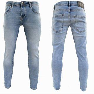 Herren Jeanshosen Stretch Hose Jeans  Slim fit  SUPER SKINNY Jeans Blau 13629