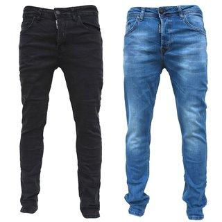 Herren Jeanshosen Stretch Hose Jeans  Slim fit  SUPER SKINNY Jeans Blau H 1000