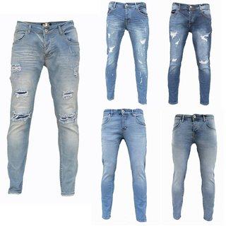 Herren Jeanshosen Stretch Hose Jeans  Slim fit  SUPER SKINNY Jeans Blau iprofash