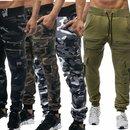 Herren Jogginghose Camouflage Sporthose Trainingshose...