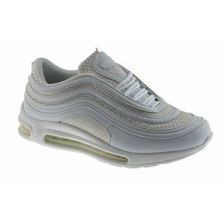 Herren Laufschuhe Sportschuhe Turnschuhe Sneaker Gr.41 - 46 Art.-Nr.081-  Schuhe Weiß EUR 43