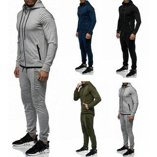 Herren Sportanzug Camouflage training Squad Anzug Jogginganzug Hoodie Hose XS