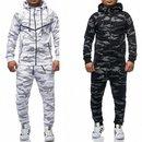 Herren Sportanzug Camouflage Trainingsanzug Jogginghose Sweatshirt Pullover neu