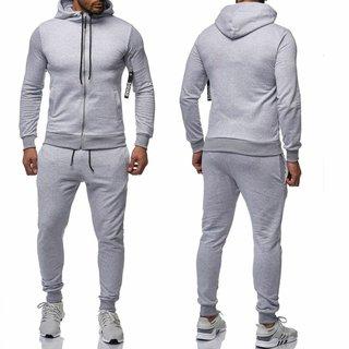 Herren Trainningazug  Jogginganzug   Jacke Sportanzug  Anzug Hoodie 0964 GRAU