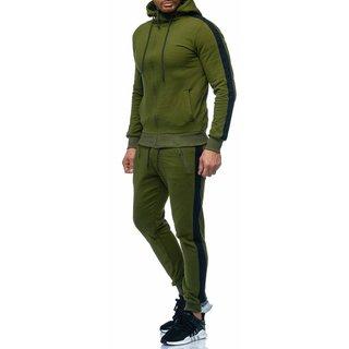 Herren Trainningazug  Jogginganzug Jogging  Jacke Sportanzug  Anzug Hoodie 0964 1109  GRUN-SCHWARZ XS