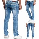 Iprofash Herren Jeans Hose Washed Straight Cut Regular...
