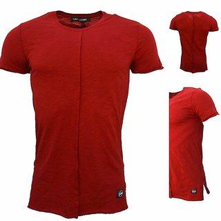 NEUE T-Shirt Basic Shirt Round Neck Zipper  SHORT ARM SS18-M2034