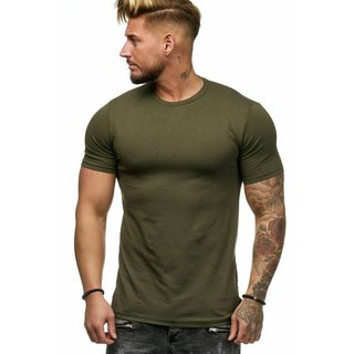 Oversize Herren Vintage T-Shirt Basic Shirt Round Neck Zipper  SHORT ARM 982