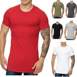 Oversize Herren Vintage T-Shirt Basic Shirt Round Neck Zipper T-Shirt 1023