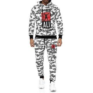 Sportanzug  Trainingsanzug Muhammad Ali JOGGING  SPORT  Hoodie Slim CAMO 9401 SLIMFIT  WEISS S