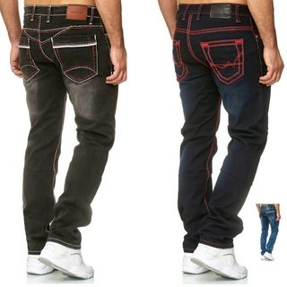 STRAIGHT JEANS CHINO HOSE DICKE NAHT  Nähte CHINO CARGO Stretch Regular Jogger
