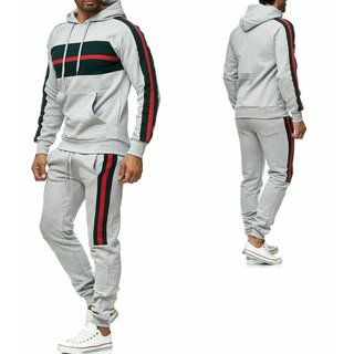 Trainingsanzug Sportanzug Jogginganzug  Trainings Hose Pullover grau Schwarz
