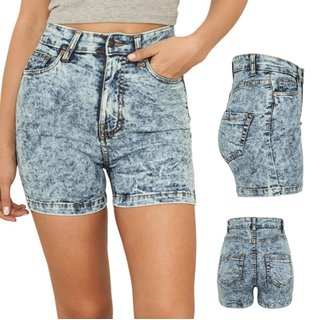 Urban Classics Ladies High Waist Denim Skinny Shorts Hüfthose kurze Hose. TB958
