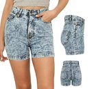 Urban Classics Ladies High Waist Denim Skinny Shorts...