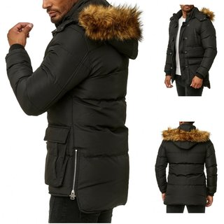 Winterjacke Übergangs Wintermantel Parka Wärmemantel 4