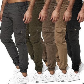 Herren Cargo Jogger Chino Stretch Hose Jogg Jeans Sweatpants Sweathose  12
