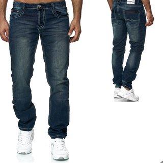 Designer Herren Jeans Hose Regular Slim  Jeans Jeanshose