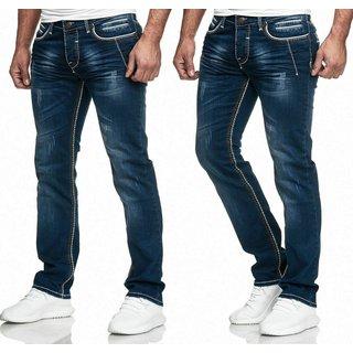 iProfash Designer Herren Jeans Hose Basic Stretch Jeanshose Regular Slim 304