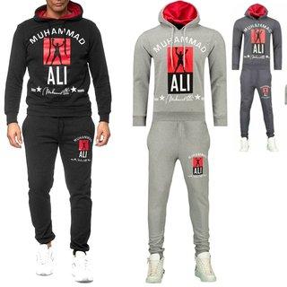 iProfash Herren Trainingsanzug/Muhammad Ali JOGGING SPORT Hose Hoodie Slim fit
