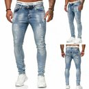 Herren Jeanshosen  Stretch Hose  Jeans  Slim fit  SUPER SKINNY Jeans Blau 2021