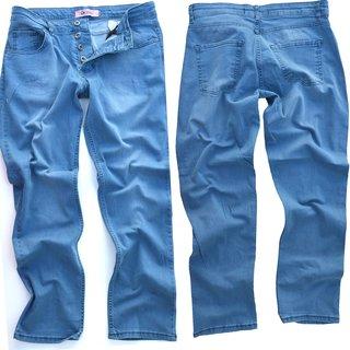 Herren Jeans  Regular Straight Fit Hose Hellblau Loose  NEU