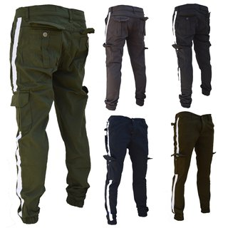 Herren Cargo Jogger Jeans Chino Hose Pants Mit Stretch