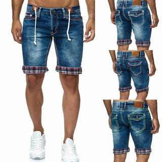 Dicke Naht Bermuda Herren Shorts Jeans-Bermuda Kurze Hose Capri Sommer Jeans Neu