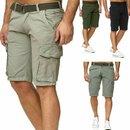 Herren Shorts Cargo kurze Hose Bermuda Short Sommer...