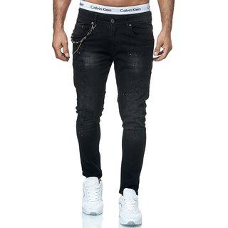 Herren Jeanshosen Stretch Hose Jeans Slim fit SUPER SKINNY Jeans Blau 9526