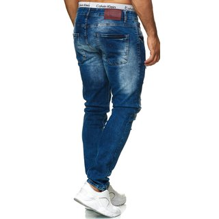 Herren Jeanshosen Stretch Hose Jeans Slim fit  Jeans Blau Schwarz Regular