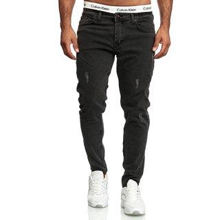 Jeans Hosen Herren Stretch Hose Jeans Slim fit Skinny Jeans    25899-Schwarz