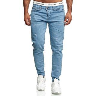 Jeans Hosen Herren Stretch Hose Jeans Slim fit Skinny Jeans  25899-Blau