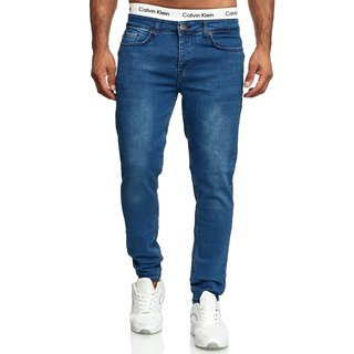Jeans Hosen Herren Stretch Hose Jeans Slim fit Skinny Jeans  258991-DUNKELBLAU