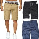Herren Stretch Chino Shorts Slim Fit Bermuda Kurze Hose...