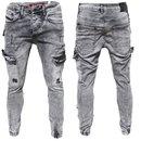 Herren Cargo Jeans Regular Slim Denim Hose Destroyed