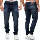 Herren Jeans Hose Basic Stretch Jeanshose Regular   Slim NEU