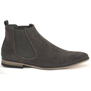 Herren Chelsea Boots Stiefel Holzoptik Business Blockabsatz  3026 GH3026  -   GRAU 41