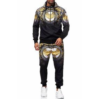 Herren Jogginganzug Trainingsanzug Sportanzug Fitness Streetwear   1546 1546-  Schwarz 2XL