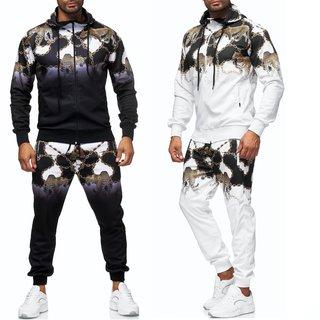Herren Jogginganzug Trainingsanzug Sportanzug Fitness Streetwear   1561