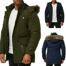 Blackrock by Jeel Herren Winterjacke Mantel Kunst-Fell...