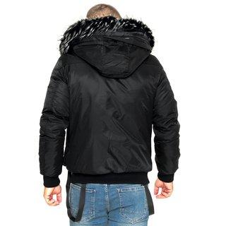 Warme Herren Designer Winter Jacke Teddyfell gefüttert Winterjacke