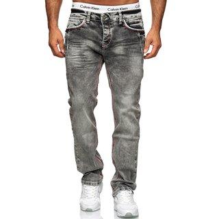 Herren Designer Jeans HOSE Blau dicke NAHT VintageW29-W44  5056