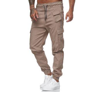 Herren Cargo Jogger Chino Stretch Hose Jogging Sweatpants Sweathose 5012