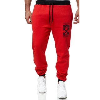 Herren Jogginghose Sporthose Männer Trainingshose Sweatpants neu 9416 X ( 9416 - X )    ROT M